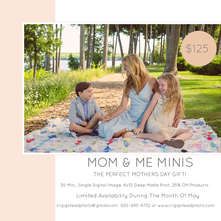 Door County Family Photographer Mothers Day Mini Session Special